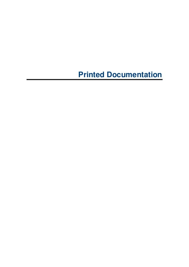 Printed Documentation