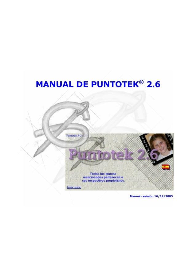 MANUAL DE PUNTOTEK® 2.6  Manual revisión 16/12/2005