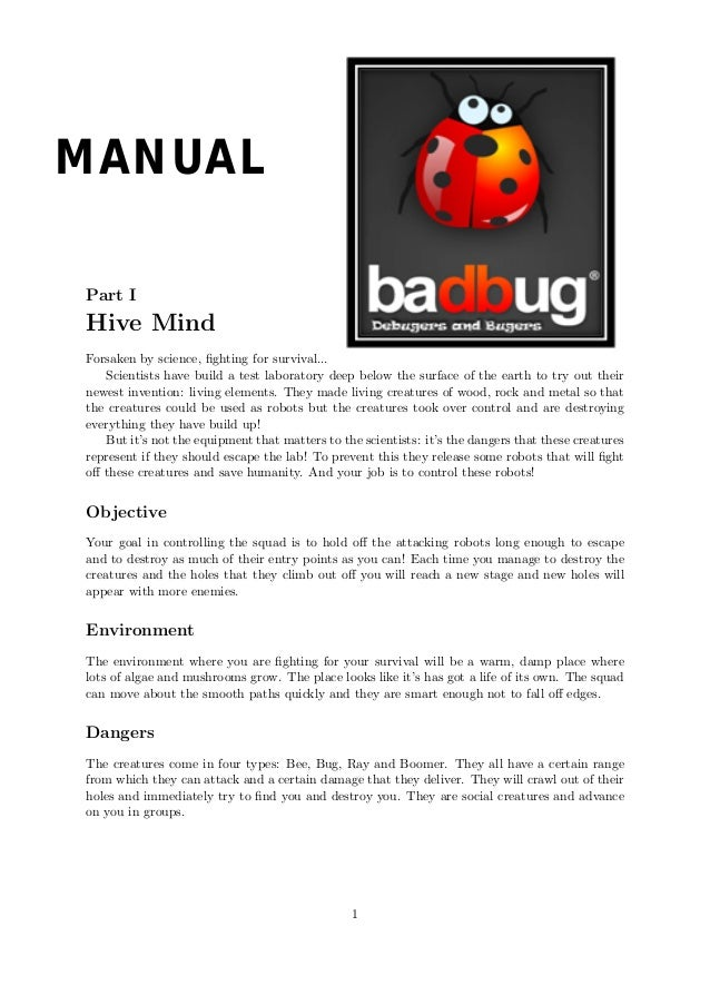 Manual - BadBug Studio - Xbox Game