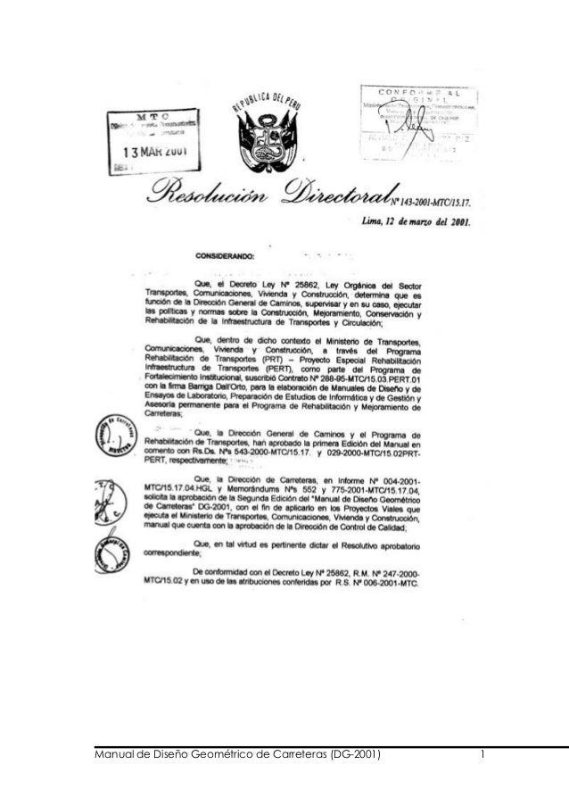 Manual de Diseño Geométrico de Carreteras (DG-2001) 1