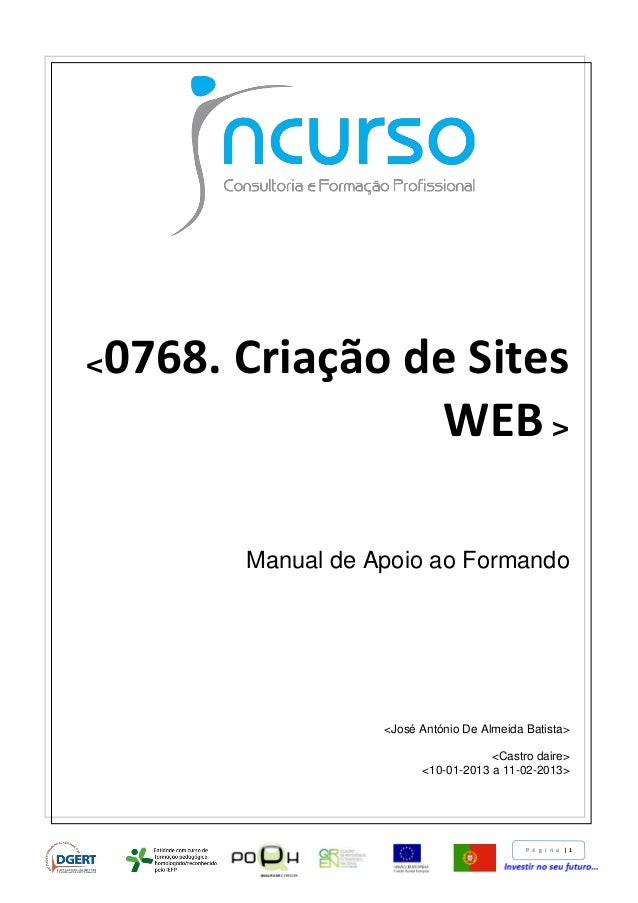 Criação de Sites web Tutorial