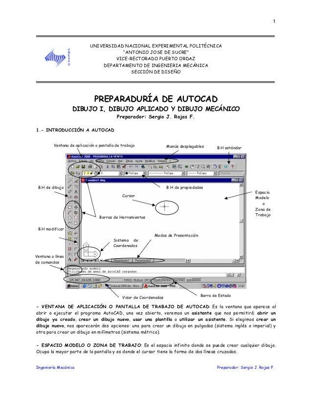 """Ingeniería Mecánica Preparador: Sergio J. Rojas F.1UNIVERSIDAD NACIONAL EXPERIMENTAL POLITÉCNICA""""ANTONIO JOSE DE SUCRE""""VIC..."""