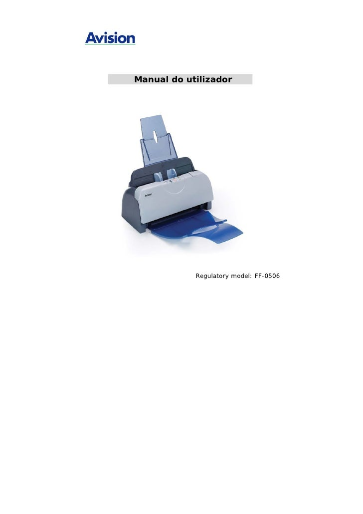 Manual do Scanner AVISION AV121