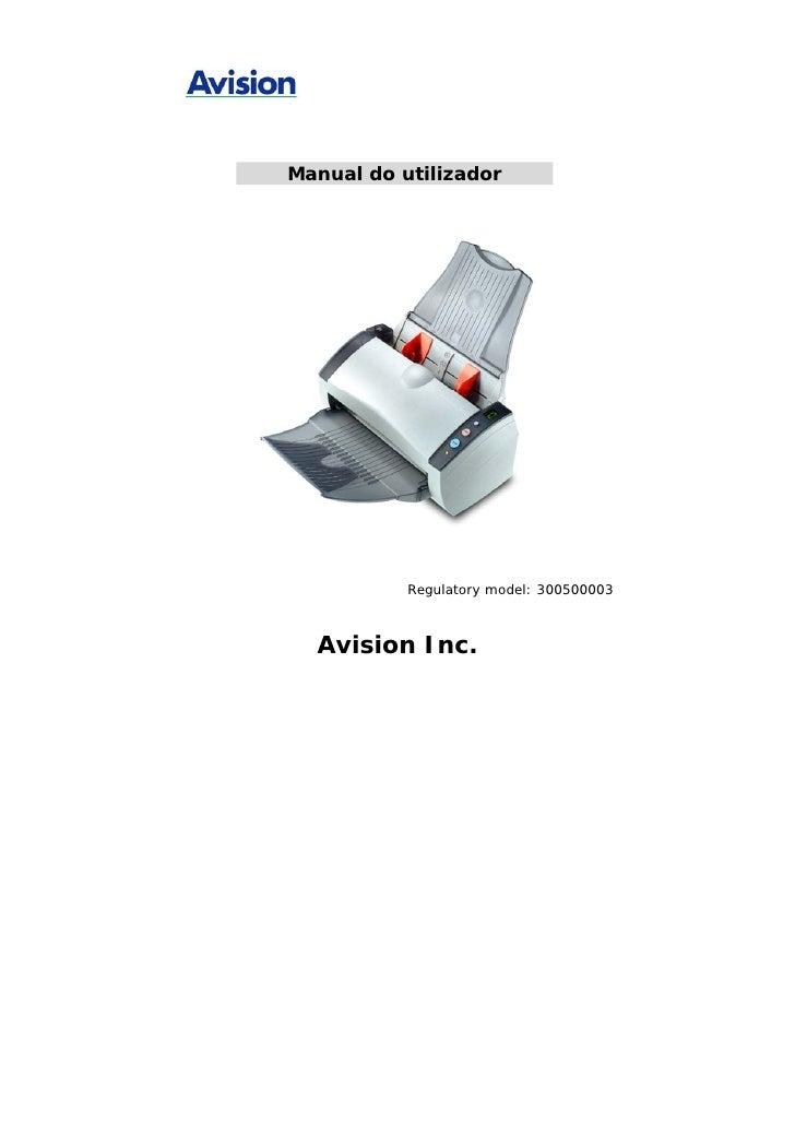 Manual Técnico do Scanner AVISION AV220C2