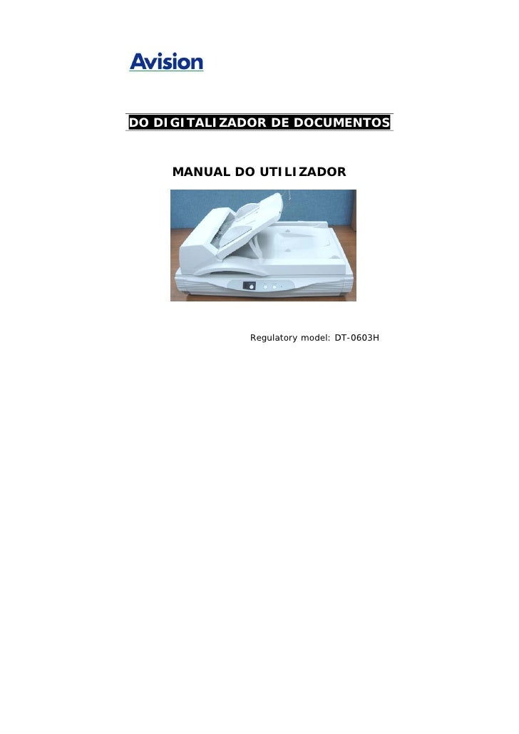 Manual Técnico do Scanner AVISION AV8050U