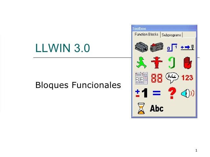 LLWIN 3.0 Bloques Funcionales