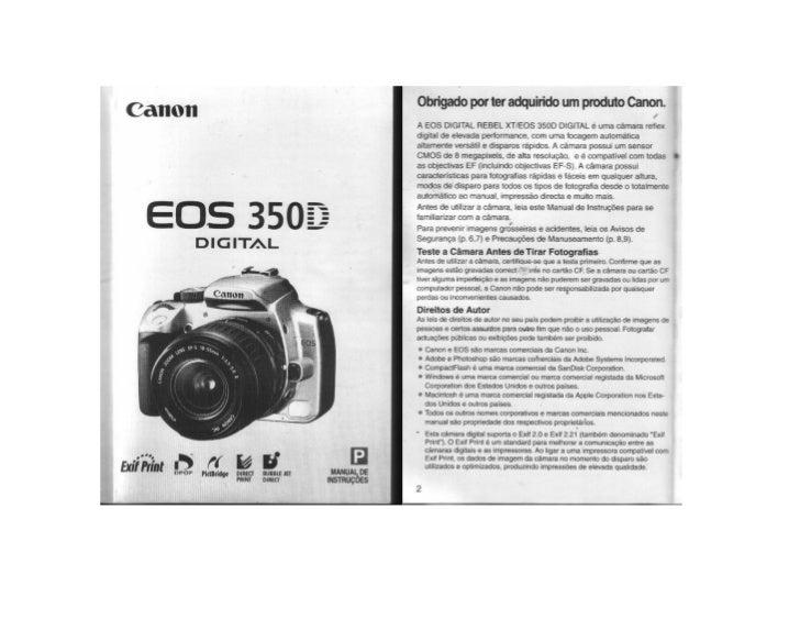 Manual canon 350 d (pt)