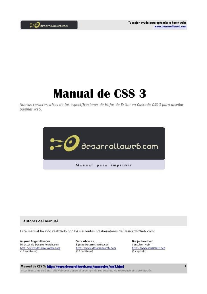 Manual css3 DesarrolloWeb