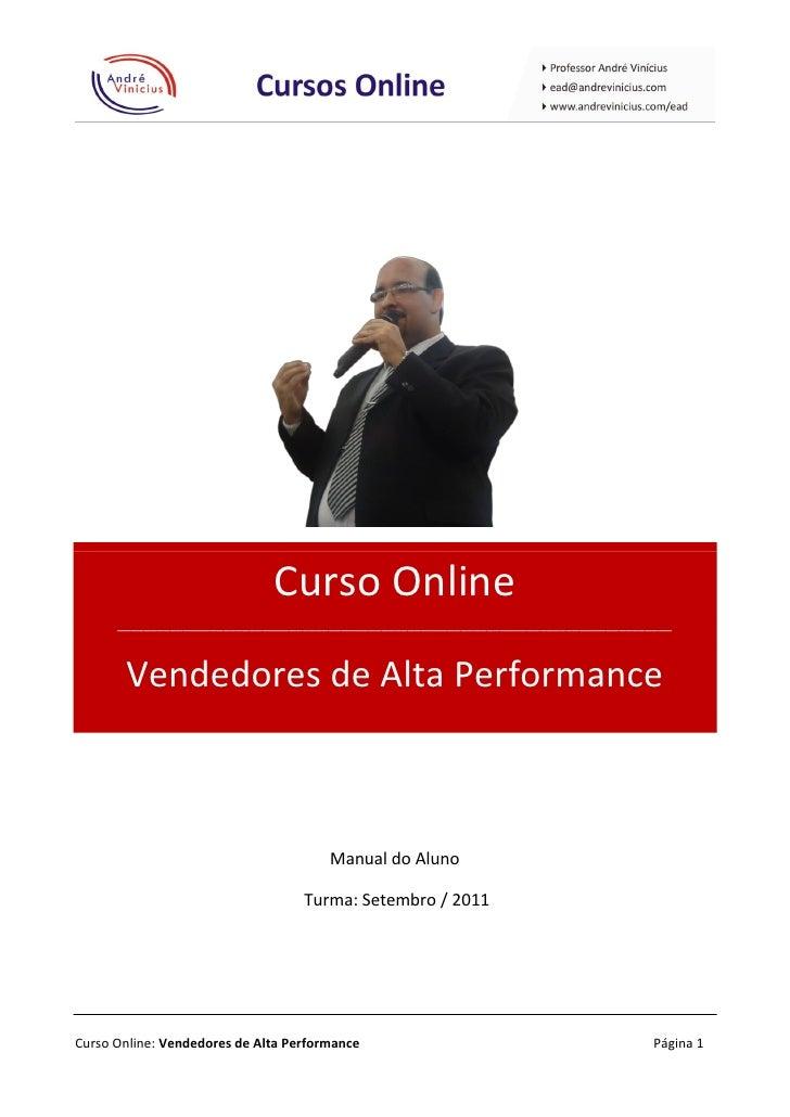 Curso Online      ____________________________________________________________________________________       Vendedores de...