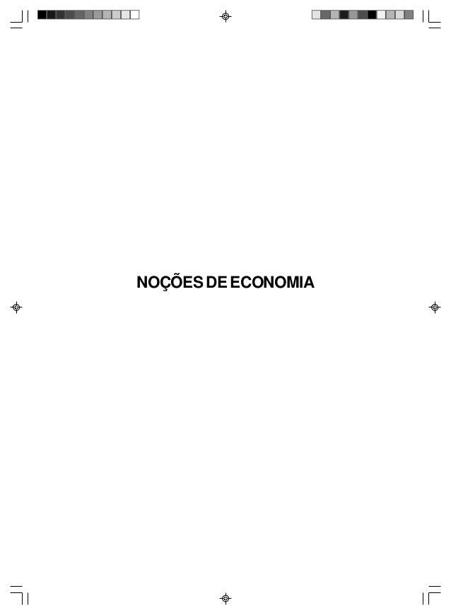 NOÇÕES DE ECONOMIA