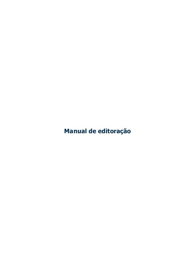 Manual de editoração