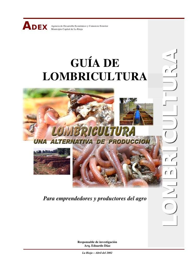 ADEX   Agencia de Desarrollo Económico y Comercio Exterior       Municipio Capital de La Rioja                            ...