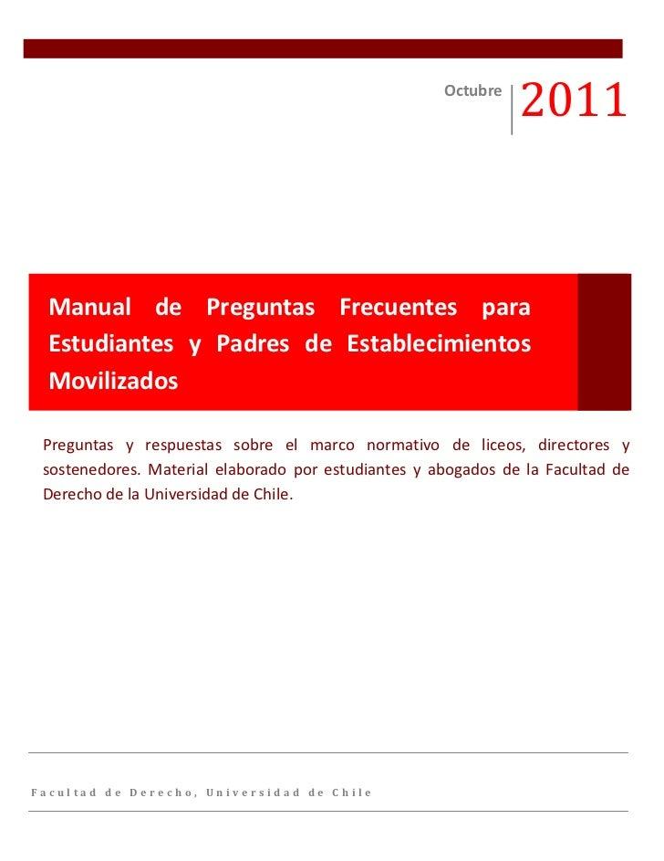 Octubre                                                               2011  Manual de Preguntas Frecuentes para  Estudiant...