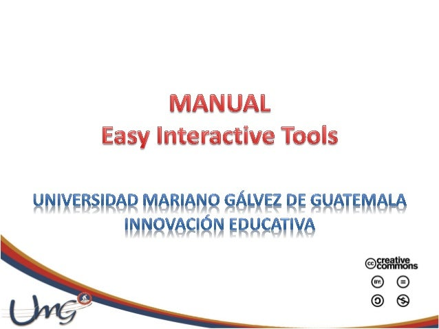 Manual easy interactive tools 2-12a