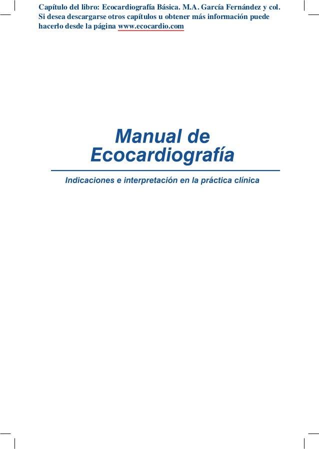 Manual ecocardiografia