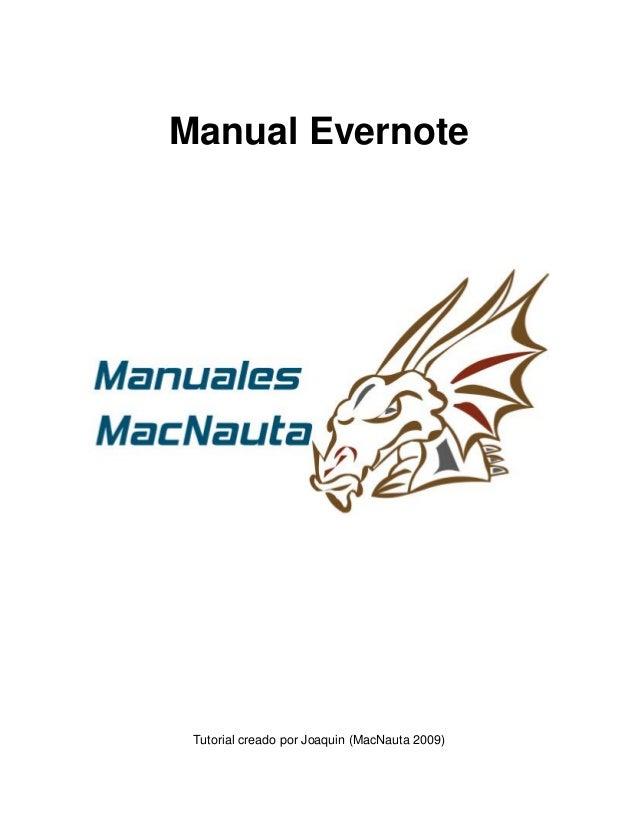 Manual Evernote Tutorial creado por Joaquin (MacNauta 2009)