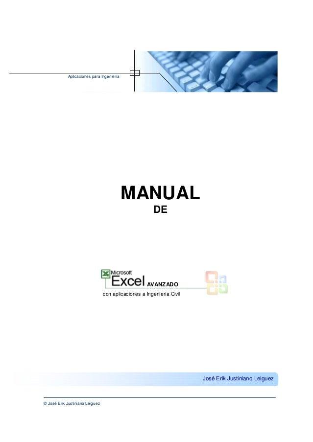 Aplicaciones para Ingeniería                                           MANUAL                                             ...