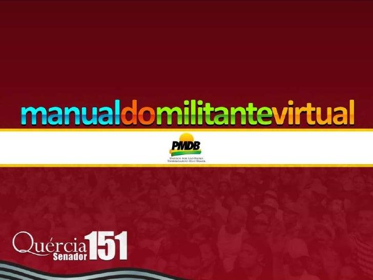 Rede Unidos por São Paulo - Manual do Militante