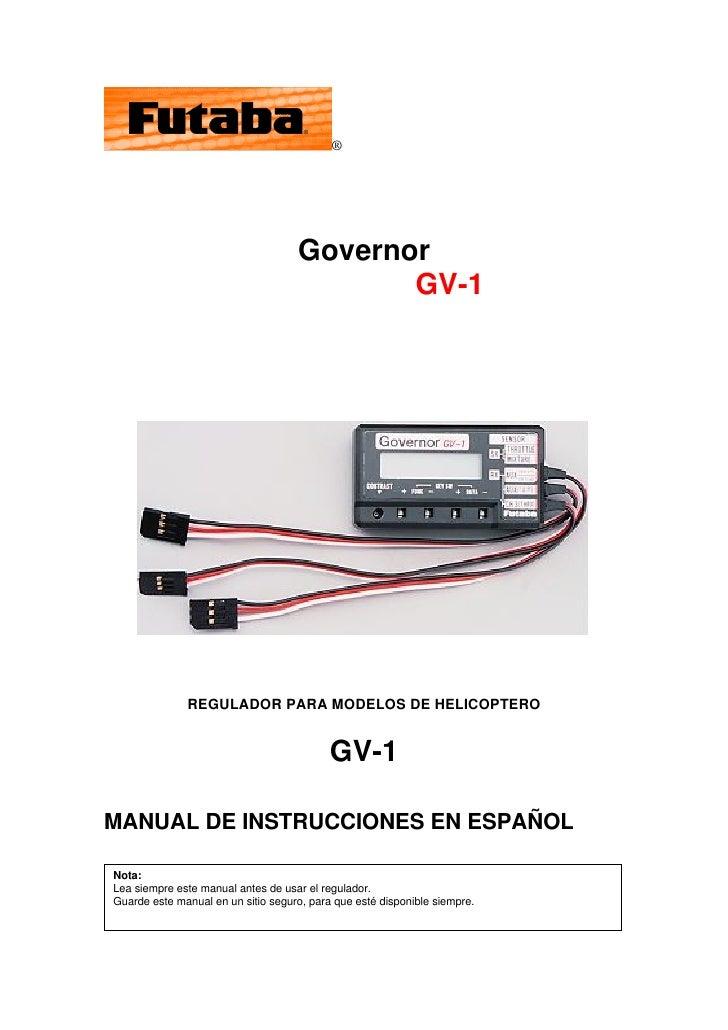 ®                                         Governor                                            GV-1                   REGUL...
