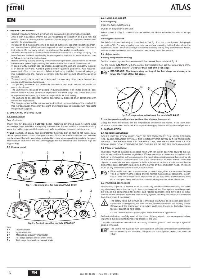 Precio caldera gasoil ferroli fabulous caldera de gasoil for Instrucciones caldera roca