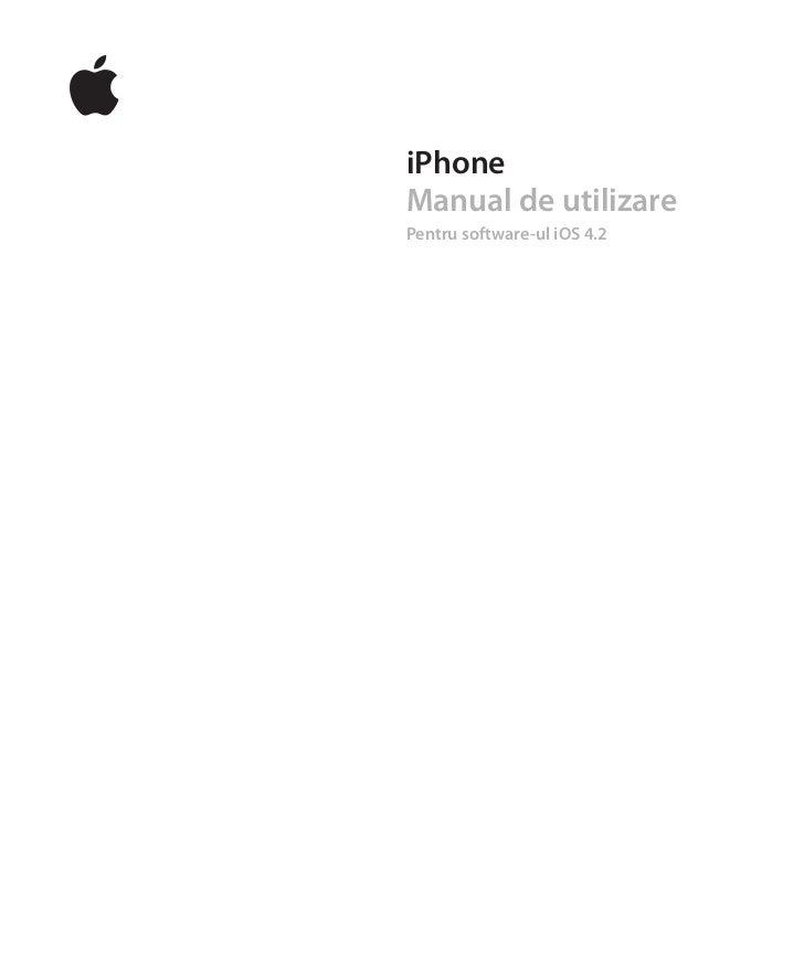 iPhoneManual de utilizarePentru software-ul iOS 4.2