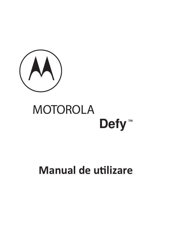 MOTOROLA            Defy ™Manual de utilizare