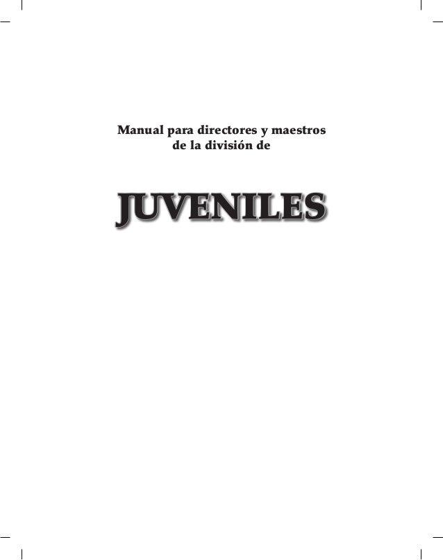Manual para directores y maestros de la división de JUVENILES