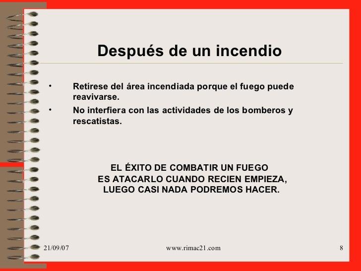 Manual para casos de emergencias incendio
