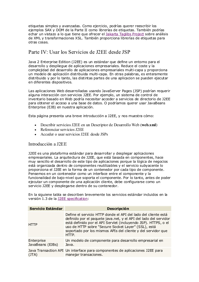 Manual programacion - java - jsp & xml