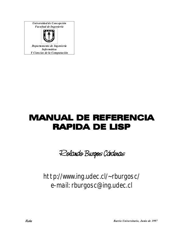 Rola Barrio Universitario, Junio de 1997 Universidad de Concepción Facultad de Ingeniería Departamento de Ingeniería Infor...