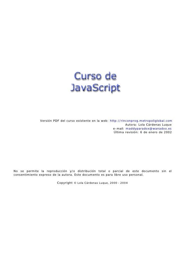 Versión PDF del curso existente en la web: http://rinconprog.metropoliglobal.com                                          ...