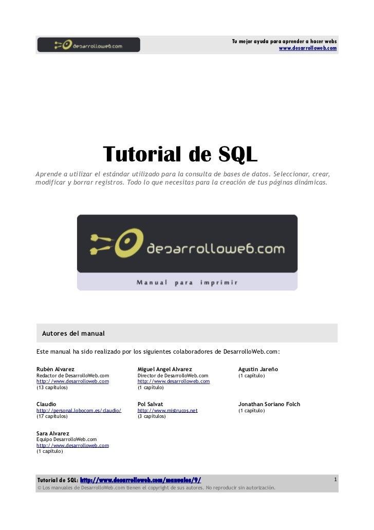 Manual tutorial-sql