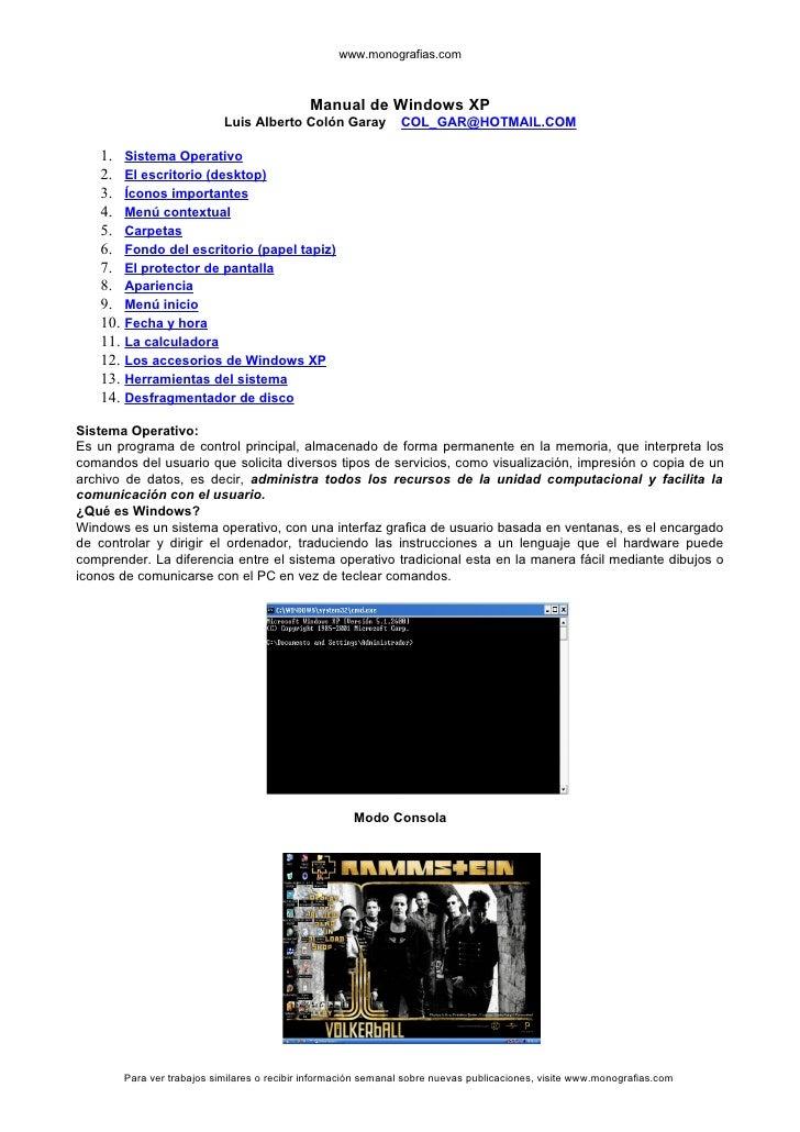 www.monografias.com                                                Manual de Windows XP                            Luis Al...