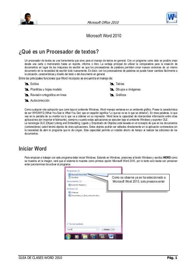 Manual basico word 2010
