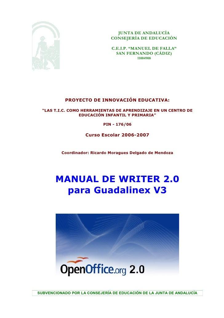 "JUNTA DE ANDALUCÍA                               CONSEJERÍA DE EDUCACIÓN                                C.E.I.P. ""MANUEL D..."