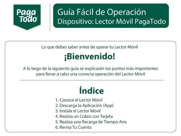 Manual de Aplicación Movil PagaTodo