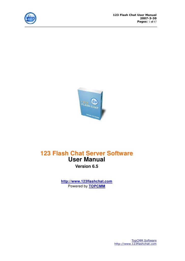 123 Flash Chat User Manual                                                     2007-3-30                                  ...
