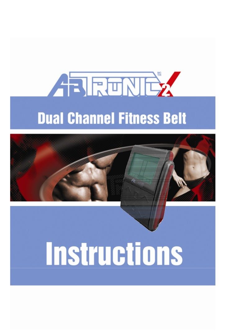 IMPORTANT!  Please read the complete instruction manual before you use  the AbTronicX2 System. It will give you a better u...
