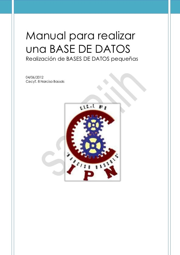 Manual para bases de datos