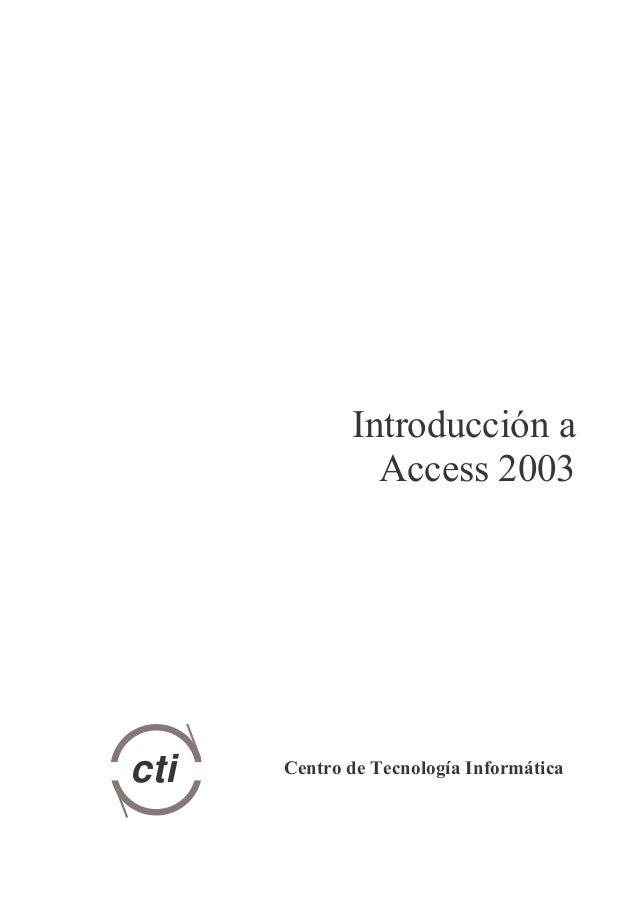 Manual access 2003 explica