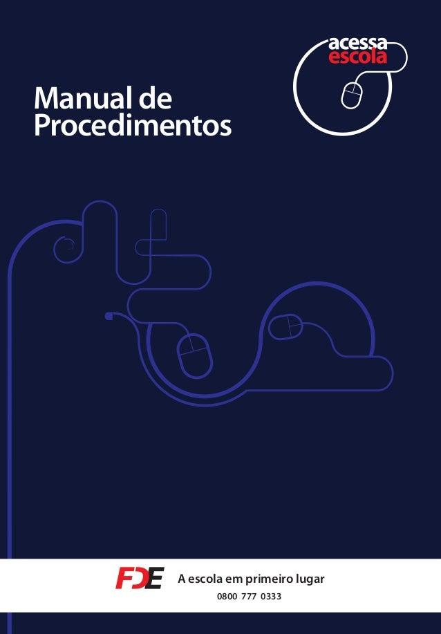 Manual de procedimentos Acessa Escola