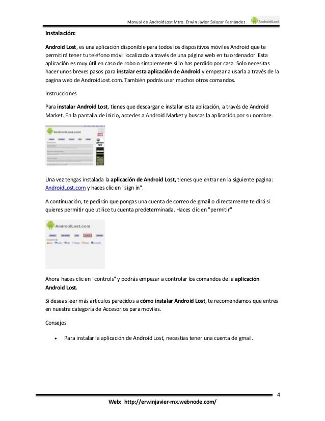 Androidlost инструкция - фото 5