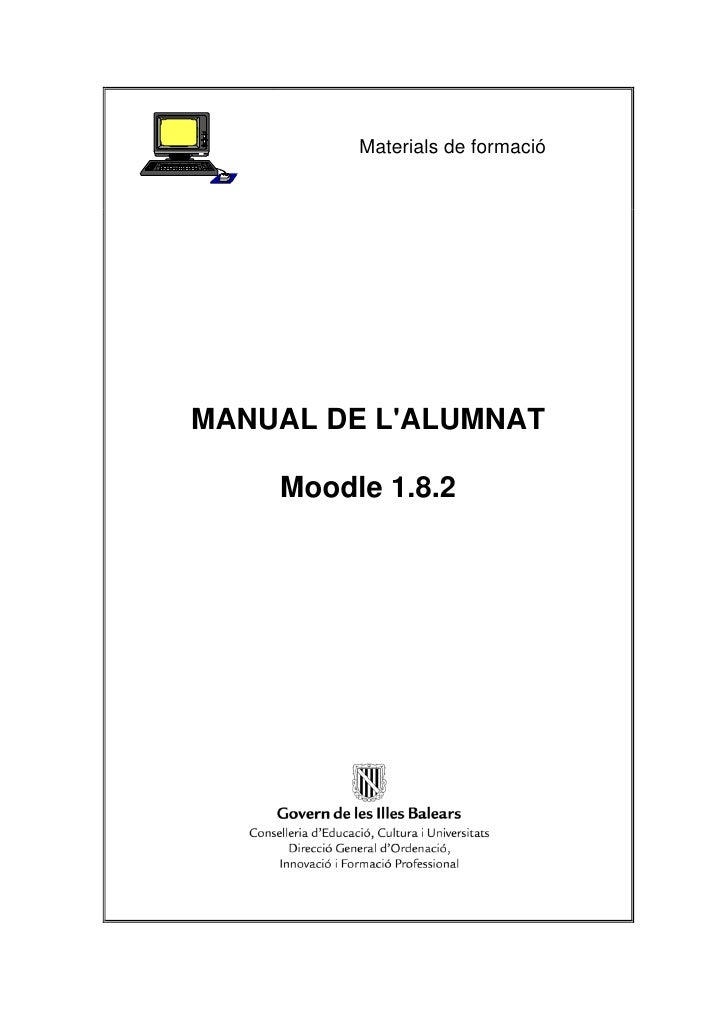 Materials de formacióMANUAL DE LALUMNAT    Moodle 1.8.2