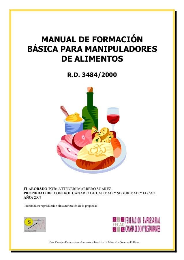 Manual alumno carnet manipulador - Temario curso manipulador de alimentos ...