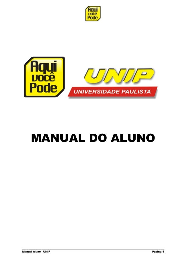 Manual Aluno - UNIP Página 1MANUAL DO ALUNO