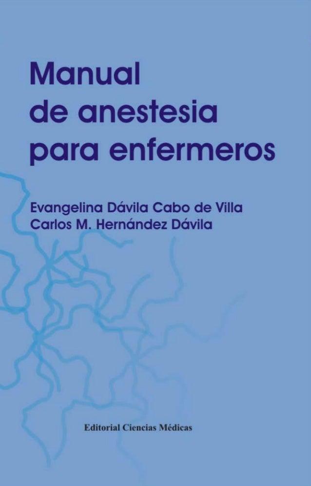 Manual anestesia para enfermeros