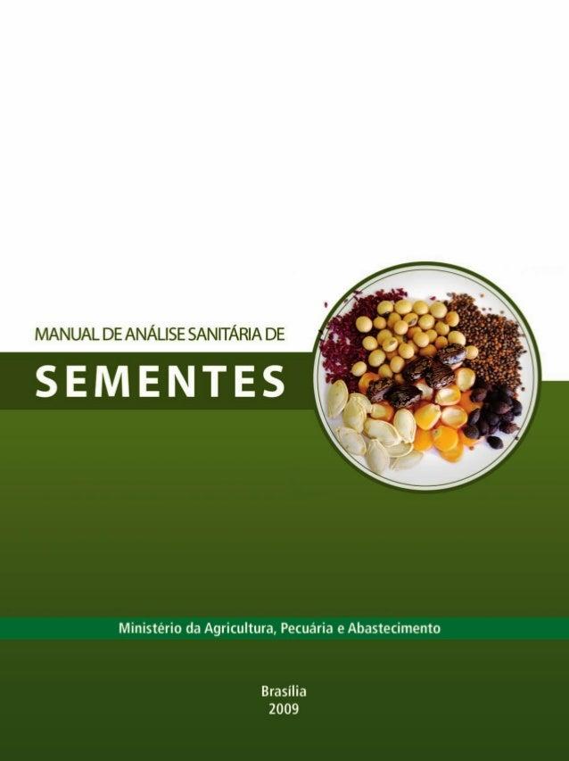 Manual análise sanintária de sementes