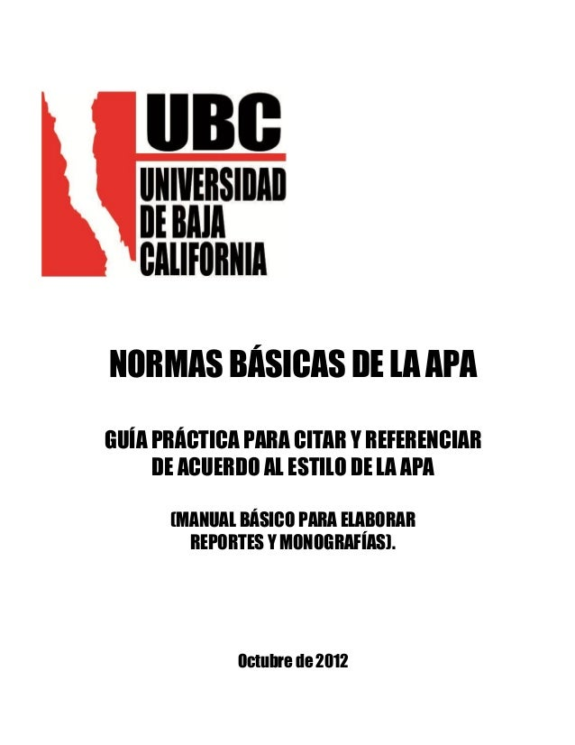 Manual apa ubc trabajos academicos