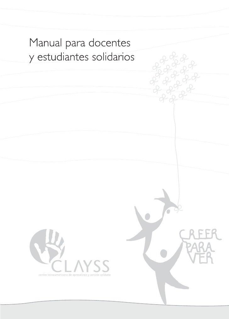 Natura – CLAYSSManual para docentes y estudiantes solidariosSegunda edición revisadaBuenos Aires, Abril de 2010Redacción:L...