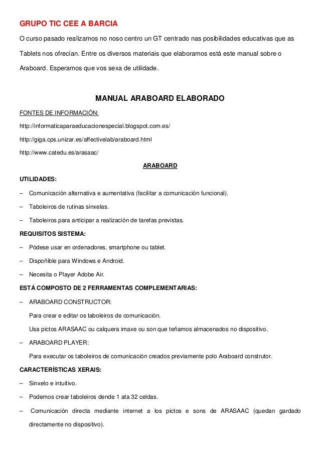 Manual araboard